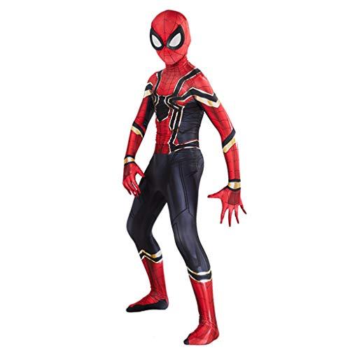 Yujingc Superheld Spiderman Kostüme Kinder Spinne Overall Body Kinder Halloween Cosplay Kostüme Onesies Kostüm Kleidung,Red,L