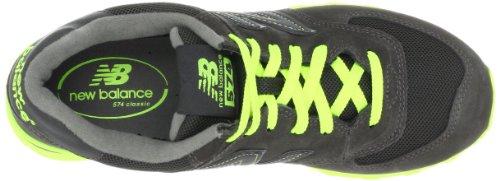 New Balance, NBML574KNR, Sneaker, Uomo Dark Grey/Lime