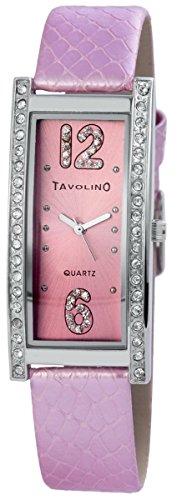 Accento Orologio da donna in acciaio INOX in rete con nastro bianco orologio SS8202000012