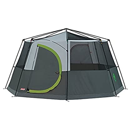 Coleman Tent Octagon, 6 Man Festival Dome Tent, 6 Person Family Camping Tent with 360° Panoramic View, Stable Steel Pole Construction, Sewn-in Groundsheet, 100 Percent Waterproof 3