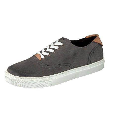 Shoot Shoes SH-164438 Herren Leder Sommer Sneaker Schnürhalbschuhe Grey