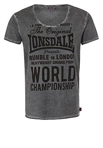 Lonsdale London Herren Oberteile/T-Shirt Winsford Grau