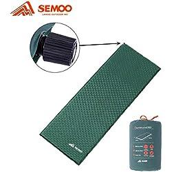 Semoo Esterilla/colchoneta Auto-Hinchable Impermeable para Camping, válvula Auto-Hinchable de rápida actuación