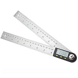 Digitale Winkelmesser mit LCD-Anzeige Edelstahl Winkel Finder Goniometer Herrscher, 200mm Winkel messen Werkzeug für Handwerker und Heimwerker