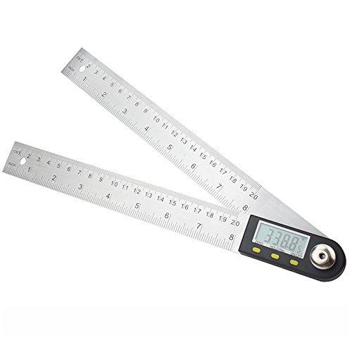 Winkelmesser Goniometer (Digitale Winkelmesser mit LCD-Anzeige Edelstahl Winkel Finder Goniometer Herrscher, 200mm Winkel messen Werkzeug für Handwerker und Heimwerker)