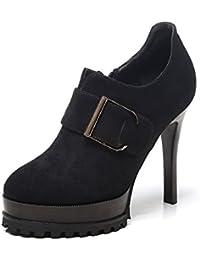 FLYRCX Señoras multa talones sexo único partido antideslizante zapato tacones altos,37