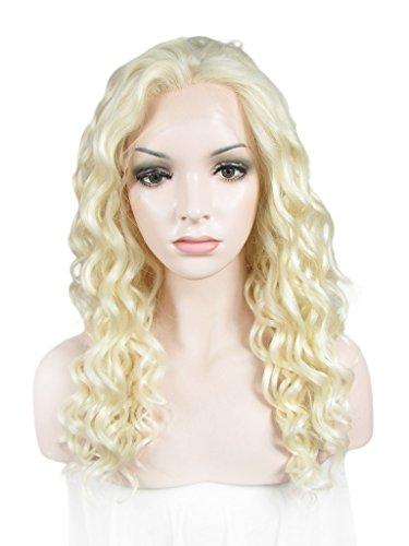 imstyle Blond décoloré couleur Texture ondulés Rihanna bouclés Perruques Lace Front synthétique