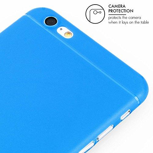 """Coque de protection ultra mince iPhone 6/6s (4,7"""") - Protection """"Gracili"""" en gris - Coque ultra mince pour iPhone avec protecteur d'appareil photo - Coque légèrement transparente qui assure une protec Bleu - bleu"""