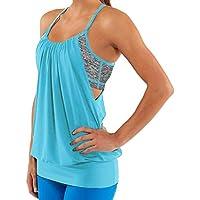 Topgraph Damen Yoga Top Shirt Sport Fitness Lauf T-Shirt ärmllose