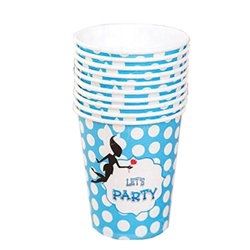 Office/Home 40 Count wei?e Punkte Feuchtes Papier Cup Wegwerfbecher, Blau Caf ? Cup