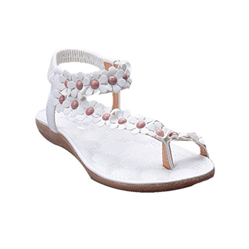 c5c382d6ed49 Internet Flip flops Women Sandals,Internet Summer Bohemia Sweet Beaded  Sandals Clip Toe Sandals Beach Sandals Beach Shoes (39