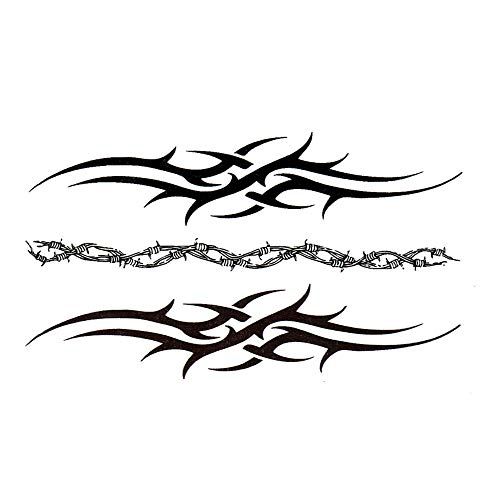 EROSPA® Tattoo-Bogen / Sticker temporär - Tribal Design Stacheldraht - 10,5 x 6 cm