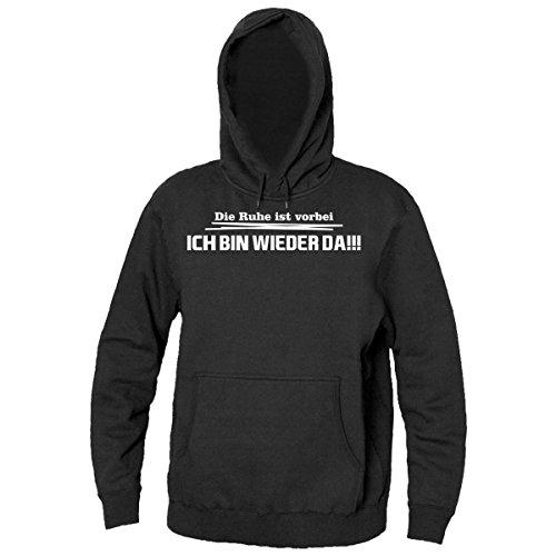 Die Ruhe Ist Vorbei Ich Bin Wieder Da!!! Men's Hooded Sweatshirt XX-Large (Hooded-sweatshirts Wieder)
