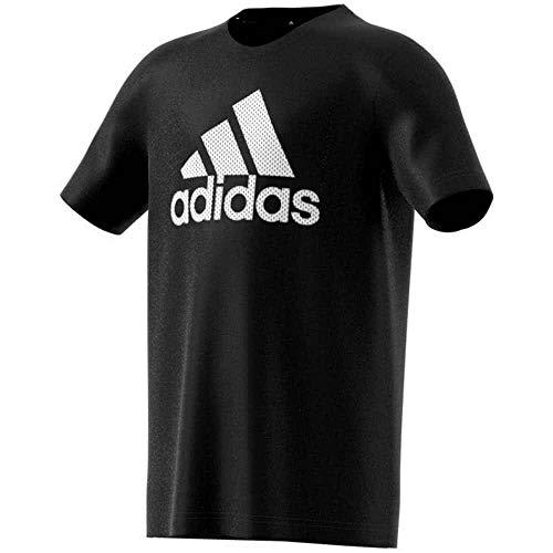 Adidas yb tr prime tee, t-shirt bambino, black/grey six, l