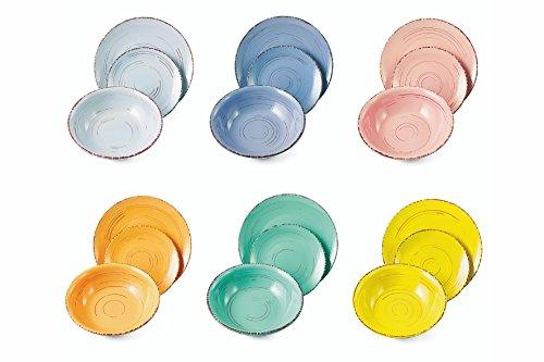VILLA D'ESTE HOME Vajilla 18 Piezas Cascina Multicolor de gres