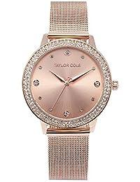 Taylor Cole TC071 - Reloj Mujer Cuarzo de Acero Inoxidable Rosa Dorado