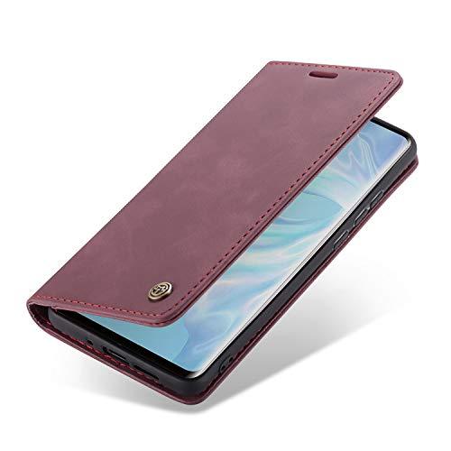 Handyhülle, Premium Leder Flip Schutzhülle Schlanke Brieftasche Hülle Flip Case Handytasche Lederhülle mit Kartenfach Etui Tasche Cover für Huawei P30, P30 Pro, P30 Lite -