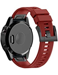 Yincol Armband für Garmin Fenix 5 / Forerunner 935 / Approach S60 - 22 mm, Fenix 5x - 26 mm, Fexix 3/ Fexnix 3 HR/ Fenix 3 Sapphire / D2 Bravo - 26mm, Quickfit-Wechselarmband Ersatz Replacement Band , Fashion Weiches Silikon Sportarmband Ersatzarmband Wrist Band Uhr Verstellbar