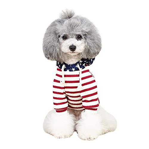 FXnn Pet Kleidung - Welpen Kleidung Teddy Bomei Hund Pullover Herbst und Winter warme kleine Hund Kleidung Tierbedarf/Katze/Hund (Farbe : Red, größe : XL)