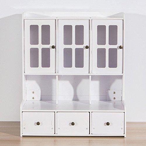 EFGUFHC Staubdichte schmuckkästchen, Kreativ Desktop Kosmetik Empfangenden box, Einfache Multi-layer-schublade Finishing kabinett-A 35*22*40.5cm(14x9x16inch) (Oxford Kabinett)