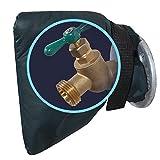 Beimaji Trade Douille de Protection pour Robinet - Chaussettes extérieures Anti-Gel pour couvercles de Robinet Vert foncé avec Serre-câble