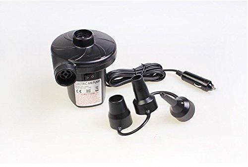 Elektrische Luftpumpe, Air Flow für Auto Power Steckdose Elektropump einschließlich 3 Anhänge, Tragbare elektrische Luftpumpe für aufblasbare Luftmatratze flothlack Boot Pool Spielzeug