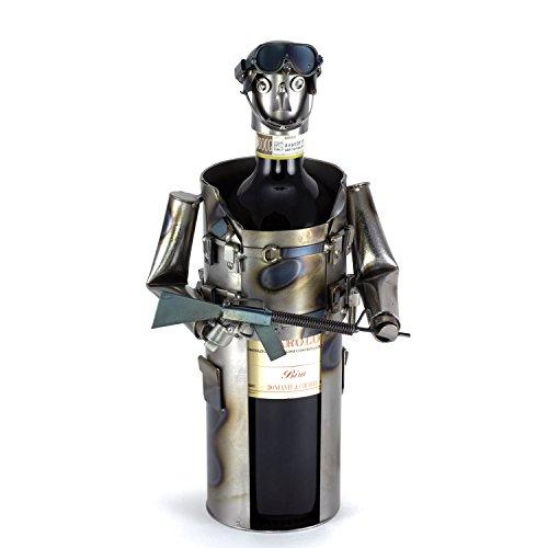 Steelman24 I Schraubenmännchen Soldat Weinflaschenhalter I Made in Germany I Handarbeit I...