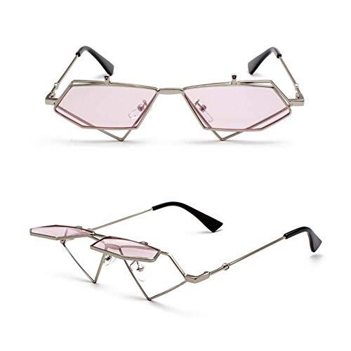 Z&HA Frauen Flip Sonnenbrille Europäischen Und Amerikanischen Hip-Hop-Retro Dekorative Gläser Rahmen, Brillen,Pink