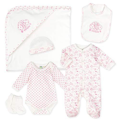 Disney Baby Set Mädchen weiß rosa | Motiv: Minnie Mouse | Baby Erstausstattung für Neugeborene & Kleinkinder | Größe: 3-6 Monate ()