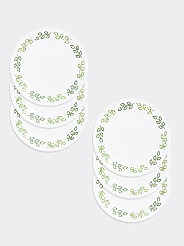Corelle India Impressions Neo Leaf Small Plate Set, Set of 6