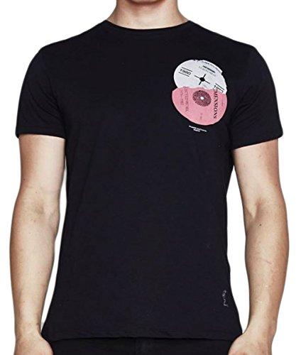 "RELIGION Clothing Herren T-Shirt Shirt ""NOIR STUDIO RECORDS"" Schwarz"
