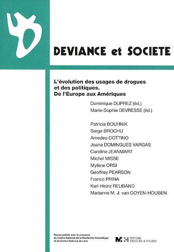 Déviance et Société, Volume 33 N° 3 : L'évolution des usages de drogues et des politiques. De l'Europe aux Amériques