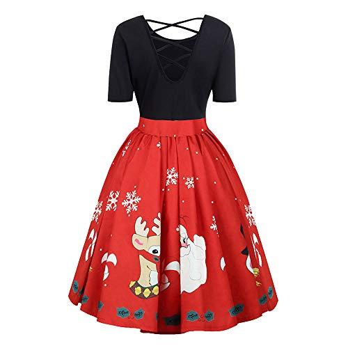 Imprimé Robe Princesse Soirée Noël Halloween ELECTRI Robe Longue Sangle Croisée Sexy Vintage Noire Grande Taille Chic Hiver Fête Dress