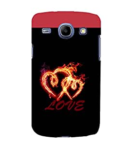 printtech Love Fire Heart Back Case Cover for Samsung Galaxy J2 / Samsung Galaxy J2 J200F
