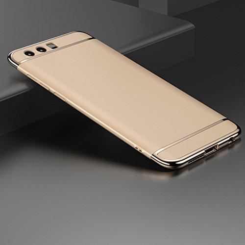 Preisvergleich Produktbild Huawei Honor 9 Hülle, DEMEDO (Plating-Serie) PC zurück Shell mit Überzug-Feld, drei Abschnitte Schutzüberzug -Fall für Honor 9(Gold)