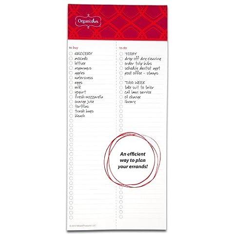 Mead Organizher Aufgabenliste Magnetischer Notizblock, 10,2x 22,9cm, 75Blatt pro Pad