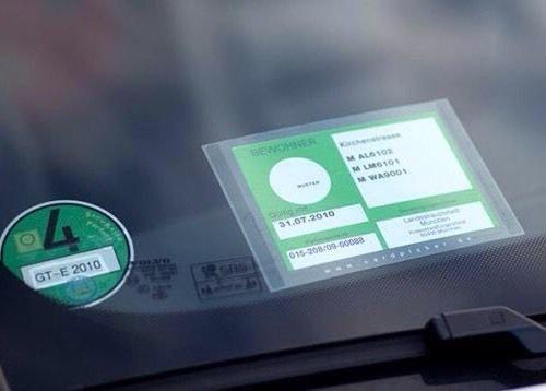 CARDPICKER Glasmagnet Parkausweis Halter Hülle -Parklizenz- selbsthaftend ADAC geprüft