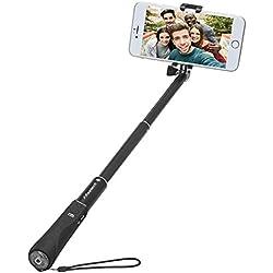 Bastone Selfie Bluetooth, FReatech Selfie Stick Monopiede Estensibile con Otturatore Wireless Bluetooth Integrato per iPhone X/8/7/6s/6 Plus, Galaxy S8/S8 Plus/Note 8 e Altri Smartphone iOS, Android