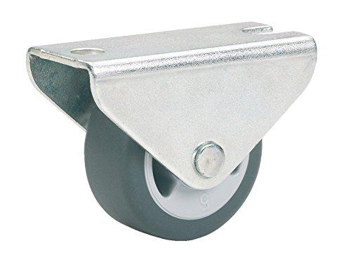 Dörner + Helmer Parkett-Bockrolle (30 x 14 mm, TPE-Rad) grau, 791330