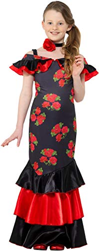 Smiffys Flamenco Tänzerin Mädchen Kinderkostüm Spanierin Girl Karneval Fasching