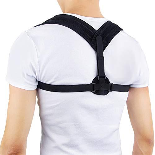Preisvergleich Produktbild MIRC Unterstützung der oberen Rückenhaltung,  orthopädischer Nacken- und Schulterstützgurt zur Schmerzlinderung, Black, L