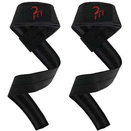 2Fit Profi Zughilfen für mehr Kraft mit E-Book - Zugbänder für Krafttraining, Kraftsport & Bodybuilding - Für Männer & Frauen (Gewichtheben Gewicht Zu Verlieren)