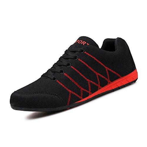 Uomo Scarpe sportive traspirante Scarpe da corsa Leggero Scarpe casual Taglia larga formatori euro DIMENSIONE 36-45 Black