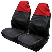 ASC-Protector de asiento de nailon Resistente al agua color rojo y negro