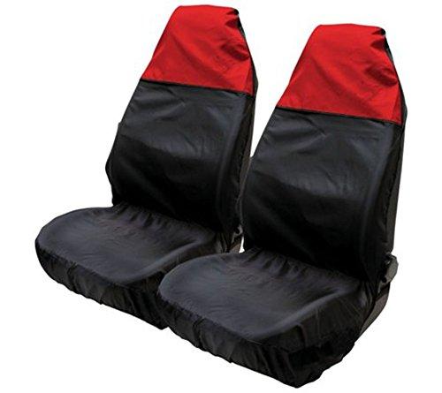 Asc-sedile, in nylon resistente all'acqua, colore: rosso/nero