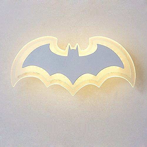 Modern Kreativ Wandlampe Acryl Lampenschirm lampe Batman Design Wandleuchte Innen Beleuchtung...