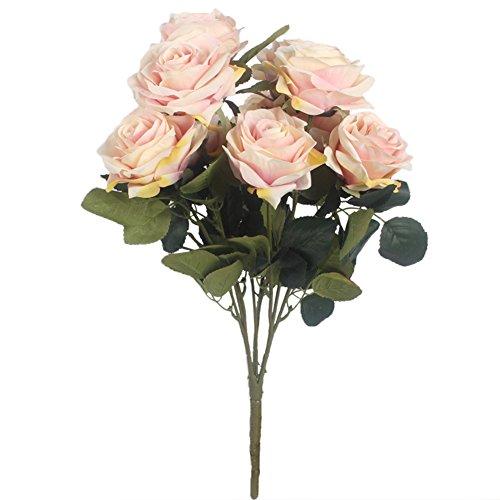 ench Rose Seide Blumenarrangement Bouquet Arrangement für Hochzeit Home Decor Party Zubehör Flores Französisch champagnerfarben (Bulk-rosenblätter)