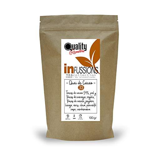 Té Chai. Chai de Cacao. Blend. Con trozos de cacao (54%), pimienta...