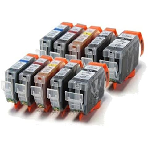 Badger Inks - Juego de cartuchos de tinta para impresoras Canon Pixma iX6500 (10 unidades)