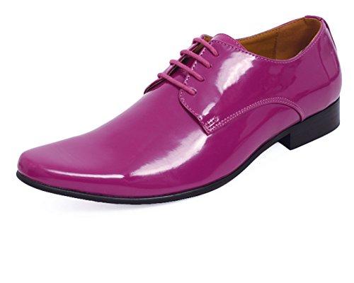 Dobell Moderne Violette Lackschuhe-42 Black High Gloss Oxford